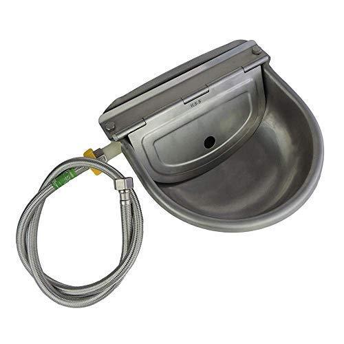 Lucky Farm Automatico Waterer Ciotola in Acciaio Inox con Tubo valvola Galleggiante abbeveratoio abbeveratoio per bovini Pecora Capra Cavallo Cane