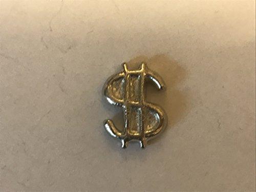 Dollar-zeichen-pin (Dollar Sign 1,5cm x 2cm tg255aus massivem Zinn Pin Revers Badge geschrieben von uns Geschenke für alle 2016von Derbyshire UK)