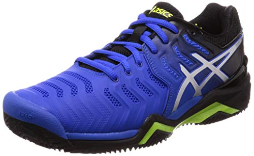 ASICS Herren Gel-Resolution 7 Clay Tennisschuhe, Mehrfarbig (Illusion Blue/Silver 407), 41.5 EU