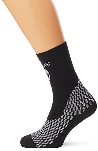 Medilast D208NB - Calcetines cortos de ciclismo unisex, color negro, talla XL