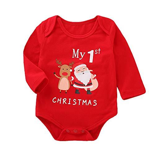 Noël Combinaison À Manches Longues Bébé Garçons Filles Barboteuse Lettre Santa Claus Elk Imprimé Bodys De Mode Mignon Casual Fête Tenues Vêtements Automne