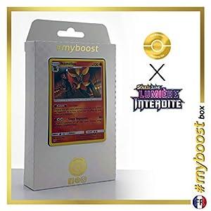 Némélios (Pyroar) 19/131 Holo - #myboost X Soleil & Lune 6 Lumière Interdite - Box de 10 Cartas Pokémon Francés