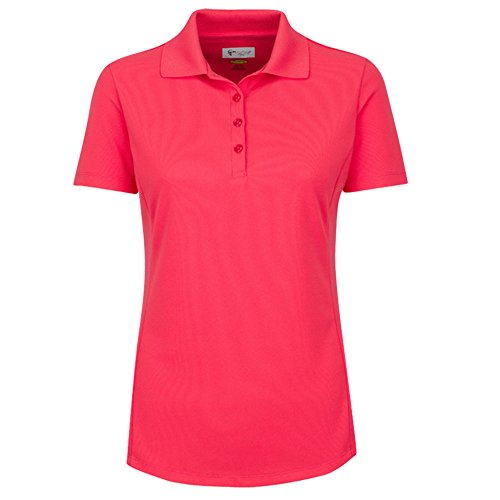 Greg Norman Collection Frauen Short Sleeve Protek aus Mikro-Piqué Polo (Piqué Golf-polo Frauen)
