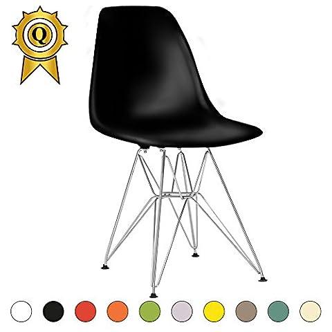 Promo 1 x Chaise Design Inspiration Eiffel Pieds Acier Inox