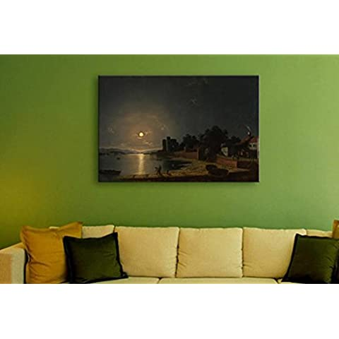 XYXY Fibra óptica Villa paisaje decorativo pintura hogar iluminación sala modernos murales LED luces pintura . d .