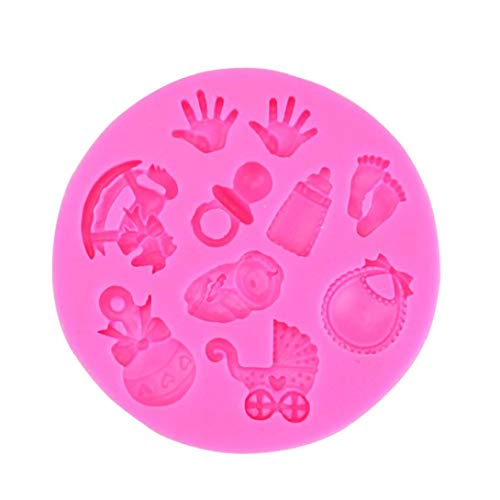 Bontand Netter Kuchen-Fondant-Form-Baby-Mini-Kuchen-Fondant-Form-Küche Dekorieren-Form-Schokoladenmodellierungswerkzeug (zufällige Farbe)