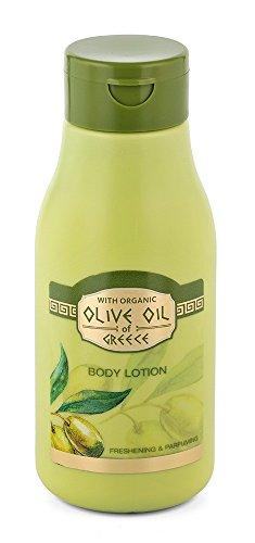 Bodylotion mit biologischem Olivenöl, Panthenol, Rosmarin, Sonnenblumenöl - Body lotion freshening & parfuming Olive Oil of Greece 300ml