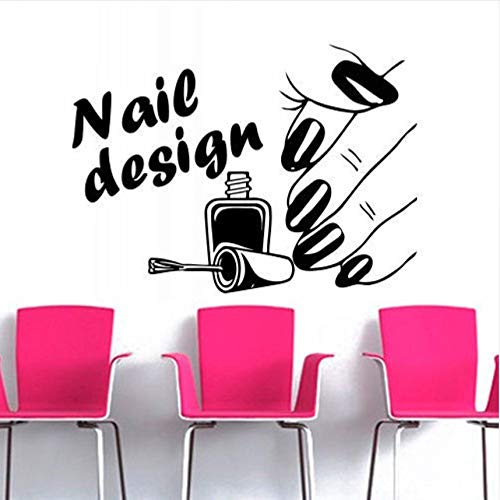 Wuyyii Nageldesign Beauty Salon Serie Wandaufkleber Frau Hand Mit Nagel Muster Kunst Wandbilder Dekor Home Zimmer Spezielle Dekor45X60Cm