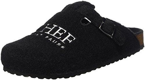 Supersoft Herren 511 078 Pantoffeln, Schwarz (Black), 43 EU