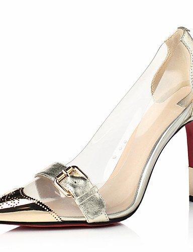ShangYi Chaussures Femme - Habillé / Soirée & Evénement - Noir / Rouge / Or - Talon Aiguille - Bout Pointu - Talons - Cuir Red