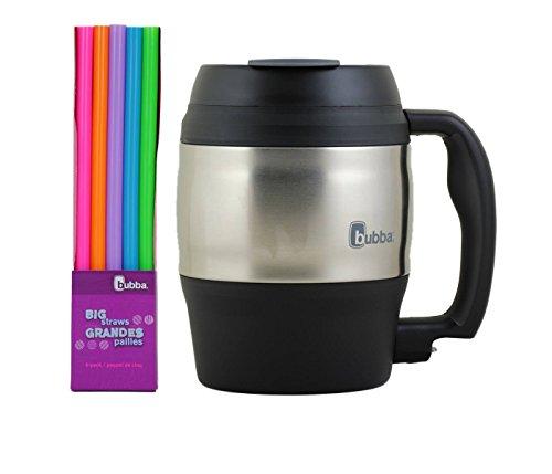 bubba 52 oz mug black with bubba big straws combo pack by Bubba Brands (Bubba Big Mug Travel)