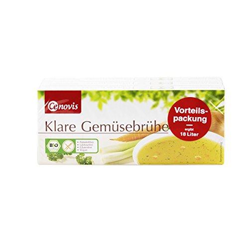 Preisvergleich Produktbild Cenovis - Klare Bio Gemüsebrühe im Würfel / Brühwürfel zum würzen,  marinieren oder als Trinkbouillon - palmfettfrei,  laktosefrei,  glutenfrei und vegan - Vorteilspackung 3 x 12 Würfel - 378 g