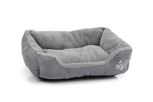 Beeztees Rest Bed Baboo Cat, 48 x 37 x 18 cm, Grey