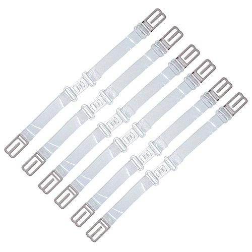 DoHope Damen BH-Träger Magic Straps, Anti Rutsch Elastische BH Bügel-Halter (Clear & Unsichtbar: 6pcs klar BH-Träger Halter)