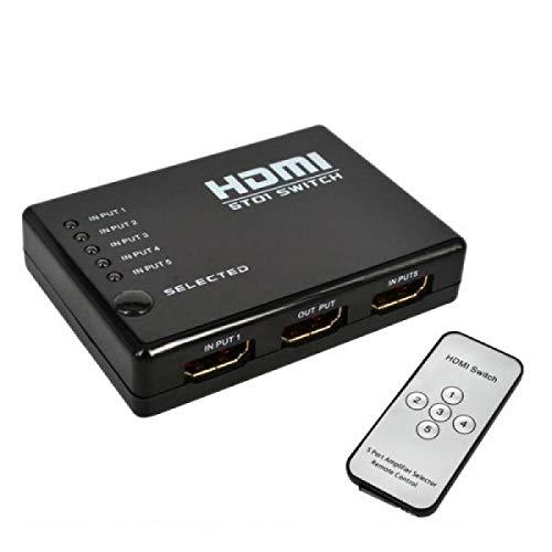 Commutateur HDMI 5 Ports 1080P Avec télécommande, peremettre HDTV