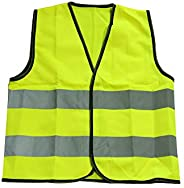 Kkmoon High Visibility Kids Reflective Vest Traffic Security Clothing Children Safety Waistcoat Child Protecti