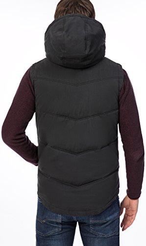 SOLID Herren Weste TOM Steppweste Zip Jacke Kapuze Futter black (9000)