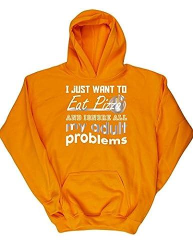 HippoWarehouse - Sweat-shirt à capuche - Fille - jaune - 13 ans
