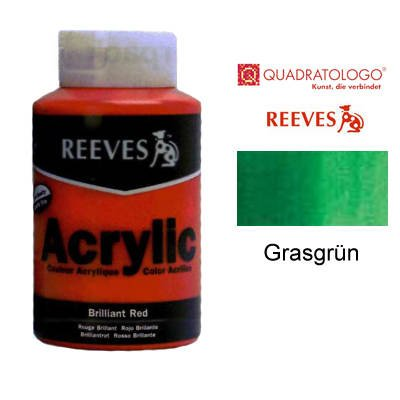 Reeves Acrylfarbe Acrylic, hohe Pigmentierung, 400ml Topf - Grasgrün