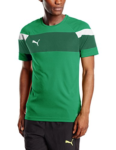 PUMA Herren T-shirt Spirit II Training Jersey Trikot, Power Green-White, L -