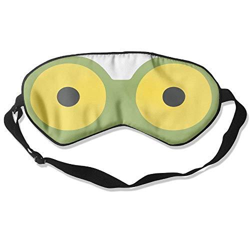 Novelty Cartoon Frog Face Unisex Sleep Mask Blinder Shade Eye Mask Eyeshade for Travel,Home,Hotel,Plane -