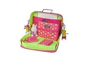 Content & Calm - Valise de jeu Tray kit étoiles - rose et vert