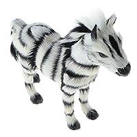 CUTICATE Simulation Faux Zebra Figurine Animal Model For Kids Gift Home Decor