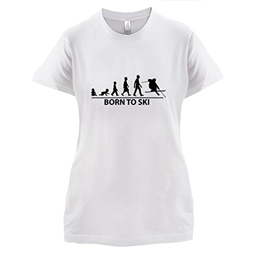 Born To Ski - Damen T-Shirt - 14 Farben Weiß