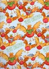 Weihnachten Party Robins–Frohe Weihnachten–Qualität Weihnachten Geschenkpapier–6Blatt & 6Robin Geschenkanhänger–Emma Ball Design