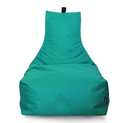 BuBiBag Sitzsack Lounge Sitzsack Sitzkissen XXL Tobekissen Bodenkissen Beanbag Kissen, für Kinder und Erwachsene (Türkis)