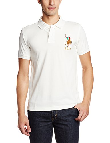 reputable site select for original release info on U.S. Polo Assn. Men's Polo (8907036566178_USTS1853_L_Ivory)