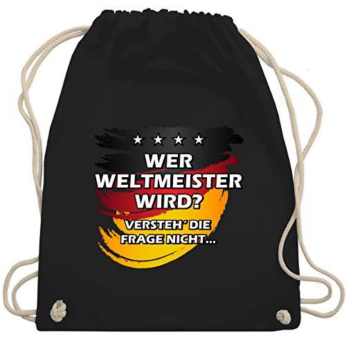 Fußball-Europameisterschaft 2020 - Deutschland WM Wer Weltmeister wird - Unisize - Schwarz - WM110 - Turnbeutel & Gym Bag