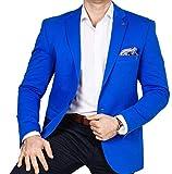 ba3843e2306302 Armina Exclusive Herren Sakko Leichter Stoff Blazer Einknopf Jackett  Regular Fit Anzug klassisch