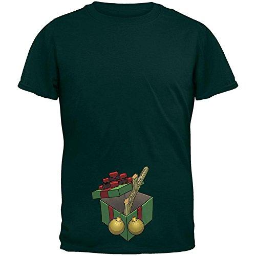 Stock im Weihnachtswald Geschenk Box Erwachsenen T-Shirt Green