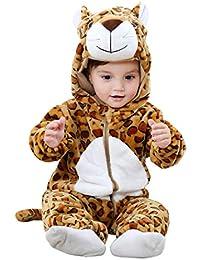 Ensemble de Pyjama Grenouillères Combinaison Bébé Unisexe Barboteuse  Capuche Flanelle Forme Animal Déguisement Manteau Enfants Garçon f7527fcfe38