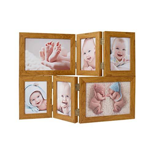 Photo Frame Einfach Folding Collage Kombination Multi-Bilderrahmen Kinder Familie Freunde Foto Desktop anzeigen
