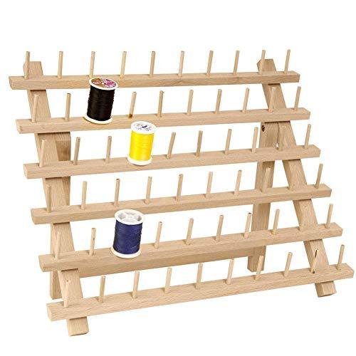 Buchenholz-lagerung (TODAYTOP Holzgewinde Rack Spool Nähen Organizer Holzgewinde Schneider Rack Premium Buchenholz Gewinde Rack Spool Organizer Lagerung Inhaber)