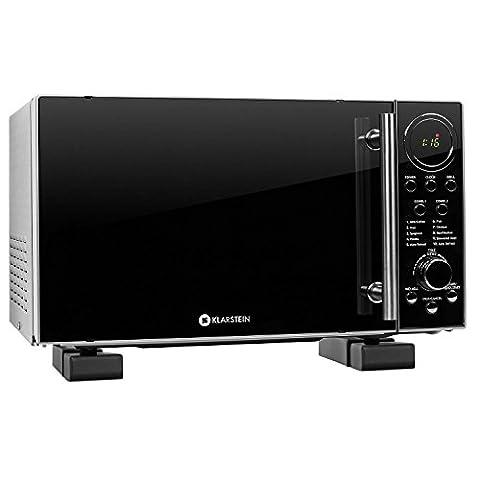 Klarstein Luminance Prime 2 four micro-ondes multifonction + support mural (puissance de 700W avec fonction grill 900W, décongelation, capacité de 20L, 12 programmes) -