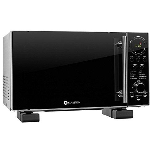 Klarstein Luminance Prime 2 four micro-ondes multifonction + support mural (puissance de 700W avec fonction grill 900W, décongelation, capacité de 20L, 12 programmes) - noir
