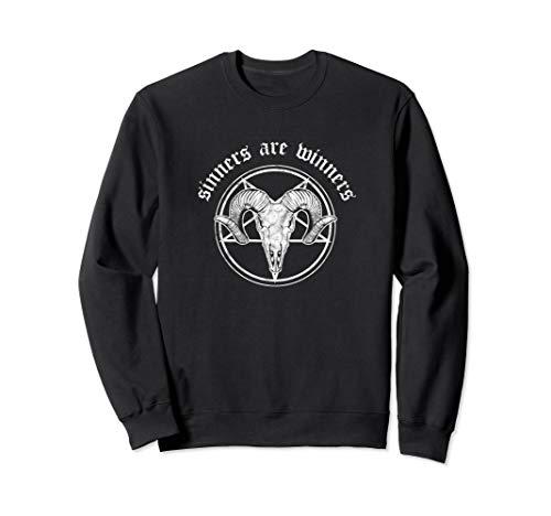 Sinners Are Winners Metal Festival Occult Atheist Okkult Tod Sweatshirt