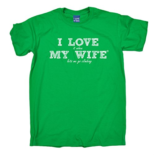 ILWMW - Men's I Love It When My Wife Climbing T-Shirt Funny Birthday Casual Christmas Tee