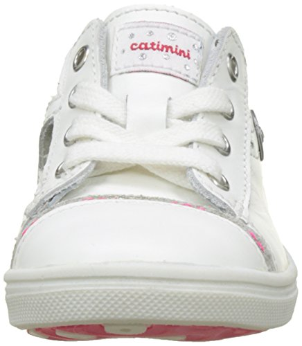 Catimini Panda, Baskets Basses Fille Blanc (Vte Blanc Dpf/Venus)