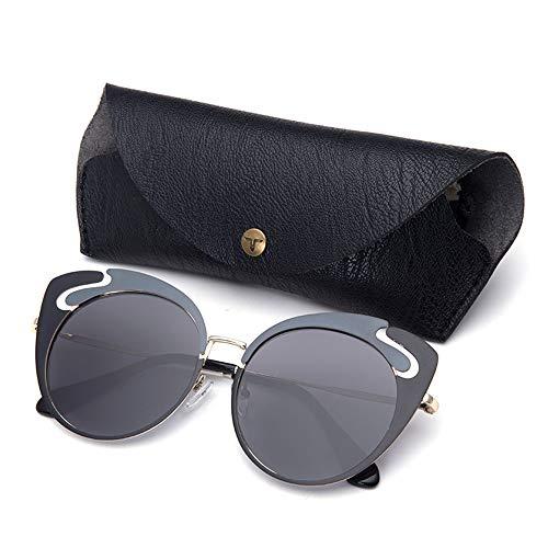 MQW Neue Sonnenbrillen, Europäische Und Amerikanische Retro-Sonnenbrillen, Street Shooting, Wilde Sonnenbrillen Schön und modisch (Farbe : Gray)