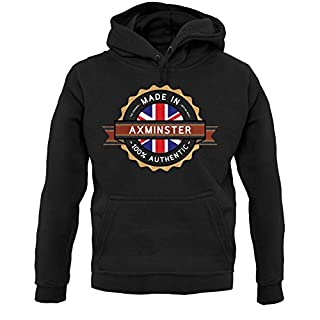 Made In AXMINSTER 100% Authentic - Unisex Hoodie/Hooded Top - Black - XXL
