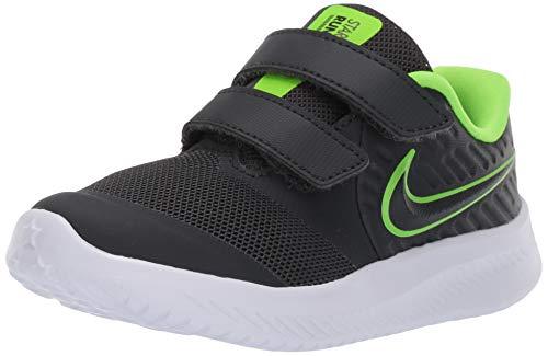 Nike Unisex Baby Star Runner 2 (TDV) Sneaker, Grau (Anthracite/Electric Green-White 004), 21 EU -