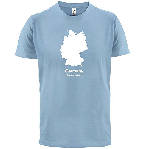 Germany / Deutschland Silhouette - Herren T-Shirt - 13 Farben Himmelblau