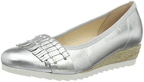 Gabor Shoes 62.641, Ballerine Donna Argento (silber  Jute  10)