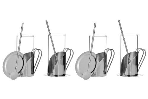 Premier Housewares Aroma Irish Coffee Set, Stainless Steel - 12 Pieces