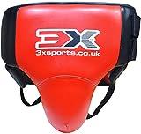 3X Professional Choice MMA Uomo Conchiglia Inguine Protezione Pelle di Vacchetta Boxe Krav Maga UFC Sport Protettiva Sospensorio Arti Marziali Muay Thai