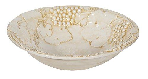Biscottini Manele Plateau à Fruits Centre de Table en céramique de Bassano L37 x pr37 x 10h cm Fabriqué en Italie